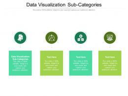 Data Visualization Sub Categories Ppt Powerpoint Presentation Outline Slide Portrait Cpb