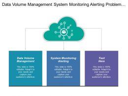 Data Volume Management System Monitoring Alerting Problem Management