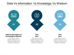 Data Vs Information Vs Knowledge Vs Wisdom Ppt Powerpoint Presentation Icon Design Ideas Cpb