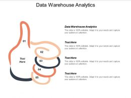 Data Warehouse Analytics Ppt Powerpoint Presentation File Master Slide Cpb