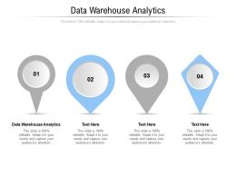 Data Warehouse Analytics Ppt Powerpoint Presentation Icon Visuals Cpb