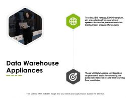 Data Warehouse Appliances Global Our Goal Ppt Powerpoint Presentation Ideas Outfit