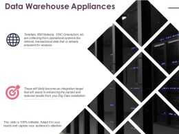 Data Warehouse Appliances Ppt Icon Graphics Design