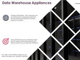 Data Warehouse Appliances Ppt Icon Graphics Design