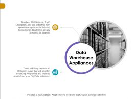 Data Warehouse Appliances Ppt Powerpoint Presentation Template