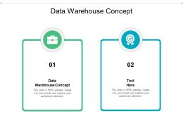 Data Warehouse Concept Ppt Powerpoint Presentation Infographic Template Graphics Cpb
