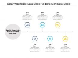 Data Warehouse Data Model Vs Data Mart Data Model Ppt PowerPoint Presentation Layouts Pictures Cpb