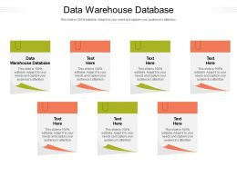 Data Warehouse Database Ppt Powerpoint Presentation Layouts Professional Cpb