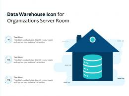 Data Warehouse Icon For Organizations Server Room