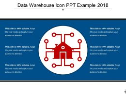 Data Warehouse Icon PPT Example 2018