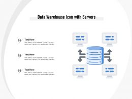 Data Warehouse Icon With Servers