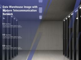Data Warehouse Image With Modern Telecommunication Network