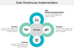 Data Warehouse Implementation Ppt Powerpoint Presentation Model Display Cpb
