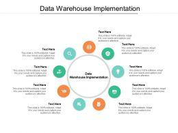 Data Warehouse Implementation Ppt Powerpoint Presentation Outline Slide Download Cpb