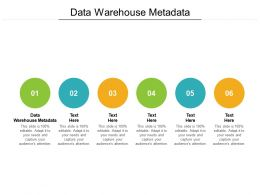 Data Warehouse Metadata Ppt Powerpoint Presentation Model Cpb