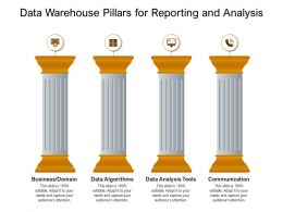 Data Warehouse Pillars For Reporting And Analysis