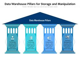 Data Warehouse Pillars For Storage And Manipulation