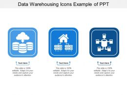 Data Warehousing Icons Example Of Ppt