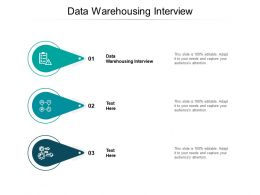 Data Warehousing Interview Ppt Powerpoint Presentation Infographic Template Ideas Cpb