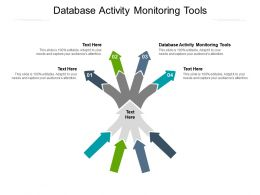 Database Activity Monitoring Tools Ppt Powerpoint Presentation Inspiration Visual Aids Cpb