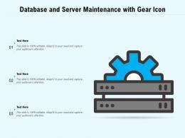 Database And Server Maintenance With Gear Icon