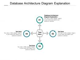 Database Architecture Diagram Explanation Ppt Powerpoint Presentation Infographic Template Cpb