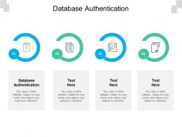 Database Authentication Ppt Powerpoint Presentation Model Gallery Cpb