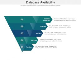 Database Availability Ppt Powerpoint Presentation Icon Ideas Cpb