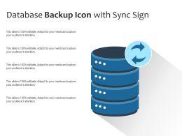 Database Backup Icon With Sync Sign