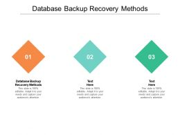 Database Backup Recovery Methods Ppt Powerpoint Presentation File Rules Cpb