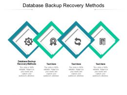 Database Backup Recovery Methods Ppt Powerpoint Presentation Layouts Objects Cpb