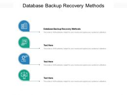 Database Backup Recovery Methods Ppt Powerpoint Presentation Show Graphics Cpb
