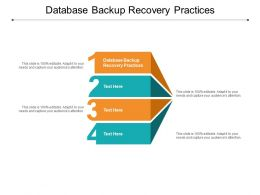 Database Backup Recovery Practices Ppt Powerpoint Presentation Layouts Styles Cpb