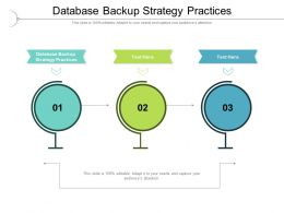 Database Backup Strategy Practices Ppt Powerpoint Presentation Professional Pictures Cpb