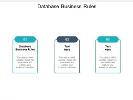 Database Business Rules Ppt Powerpoint Presentation Infographics Skills Cpb