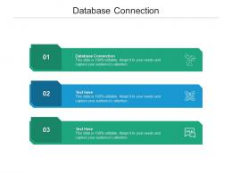 Database Connection Ppt Powerpoint Presentation Summary Background Designs Cpb