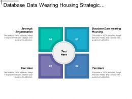Database Data Wearing Housing Strategic Segmentation Market Research