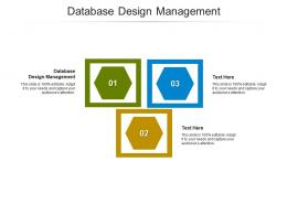 Database Design Management Ppt Powerpoint Presentation Professional Demonstration Cpb