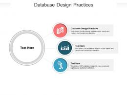 Database Design Practices Ppt Powerpoint Presentation Icon Graphics Tutorials Cpb