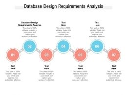 Database Design Requirements Analysis Ppt Powerpoint Presentation Pictures Clipart Cpb
