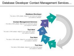 Database Developer Contact Management Services Business Logic Services