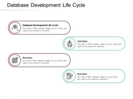 Database Development Life Cycle Ppt Powerpoint Presentation Infographics Clipart Cpb