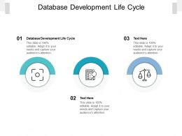 Database Development Life Cycle Ppt Powerpoint Presentation Pictures Smartart Cpb