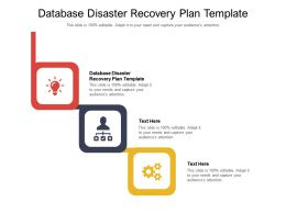 Database Disaster Recovery Plan Template Ppt Powerpoint Design Inspiration Cpb