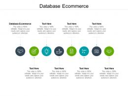 Database Ecommerce Ppt Powerpoint Presentation Gallery Layout Ideas Cpb