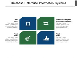 Database Enterprise Information Systems Ppt Powerpoint Presentation Smartart Cpb