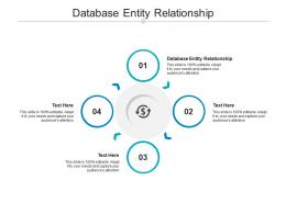 Database Entity Relationship Ppt Powerpoint Presentation Summary Clipart Images Cpb