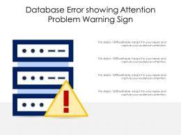 Database Error Showing Attention Problem Warning Sign
