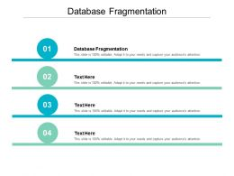 Database Fragmentation Ppt Powerpoint Presentation Styles Examples Cpb