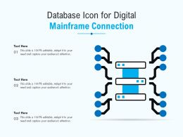 Database Icon For Digital Mainframe Connection